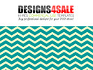 Thumbnail Thick Chevron Teal Pattern For Sale