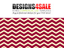 Thumbnail Thick Chevron Red Pink Pattern For Sale