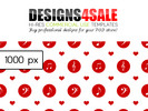 Thumbnail Musical Notes Red Pattern For Sale