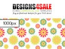 Thumbnail Summery Flowers Vibrant Pattern For Sale