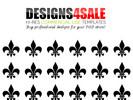 Thumbnail Fleur De Lis Black Pattern For Sale