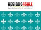 Thumbnail Fleur De Lis White Pattern For Sale