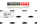 Thumbnail Moustache Pattern For Sale