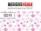 Thumbnail Fleur De Lis Pattern Pink