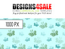 Thumbnail Little Butterflies Blue Green Pattern For Sale