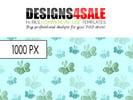 Thumbnail Little Butterflies Blue Green Pattern For Sale