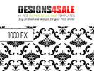 Thumbnail Black Damask Pattern For Sale