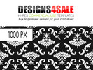 Thumbnail White Damask Pattern For Sale