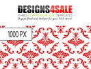 Thumbnail Red Damask Pattern For Sale