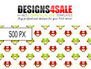 Thumbnail Cute Little Owls Red n Green Pattern For Sale