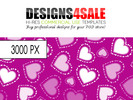 Thumbnail Dotted Hearts White Pattern For Sale