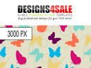 Thumbnail Butterflies and Swirls Vibrant Pattern For Sale