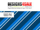 Thumbnail Retro Stripes Blue Pattern For Sale