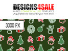 Thumbnail Merry Christmas Pattern For Sale