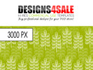 Thumbnail Modern Leafy Pattern For Sale