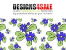 Thumbnail Daisy Flowers Blue Pattern For Sale