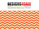 Thumbnail Thick Chevron Orange Pattern For Sale