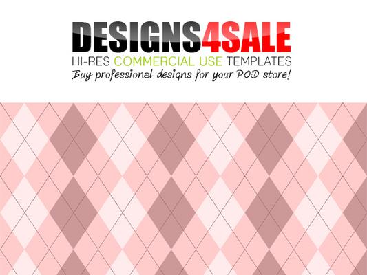 Argyle Pale Pink Pattern For Sale