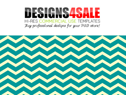 Pay for Thick Chevron Teal Pattern For Sale