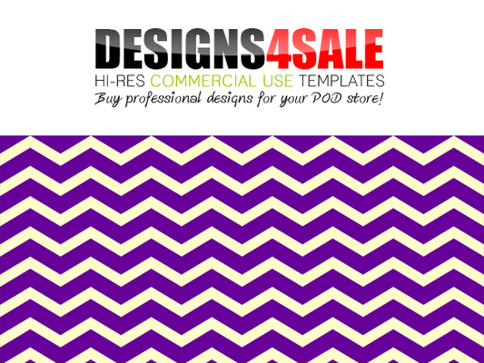Pay for Thick Chevron Purple Pattern For Sale