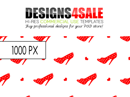 Pay for Classy Red Shoes Pattern For Sale
