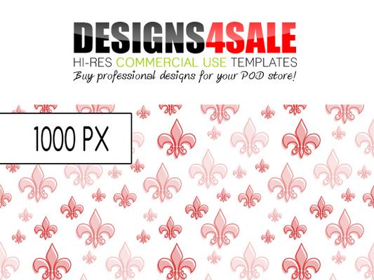 Pay for Fleur De Lis Pattern Red