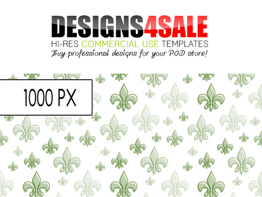 Pay for Fleur De Lis Pattern Green