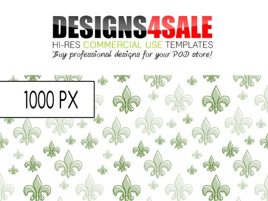 Pay for Fleur De Lis Pattern Green
