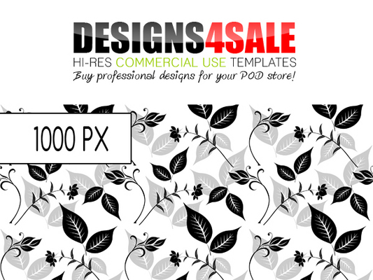 Pay for Flourish Black Pattern For Sale
