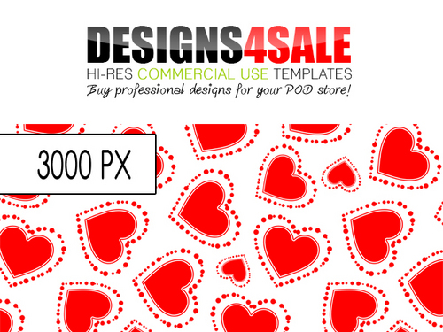 Pay for Dotted Hearts Red Pattern For Sale