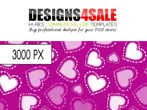 Pay for Dotted Hearts White Pattern For Sale