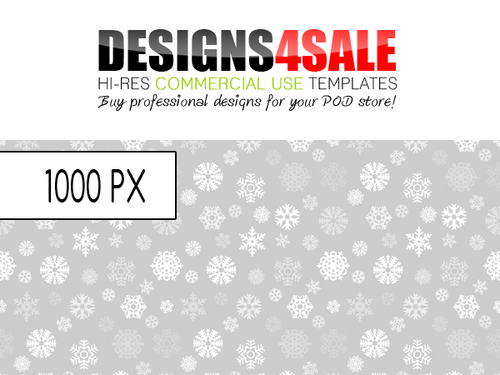 Pay for Snowflakes Pattern For Sale