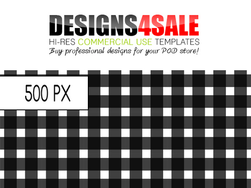 Pay for Gingham Check Black Pattern For Sale