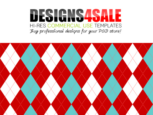 Christmas Argyle Pattern For Sale