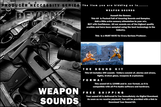 Pay for WEAPONS sound effects adobe final cut canon sony cs dv