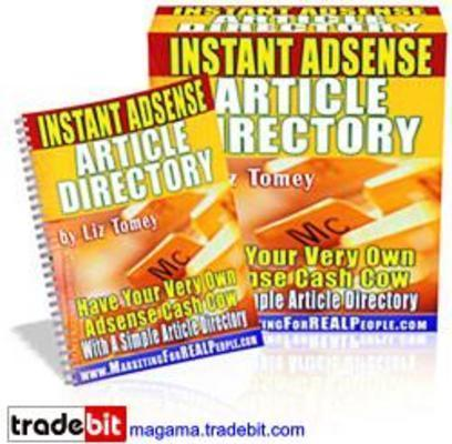 Pay for Instant Adsense Article Directory Master Resale Rights