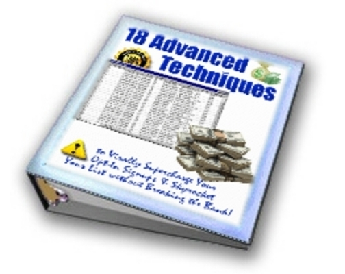 Pay for New 18 Advanced Techniques Report with MRR