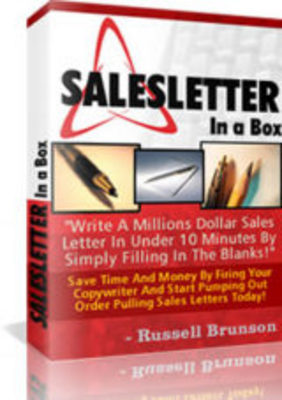 Pay for New Sales Letter In A Box Software with PLR