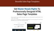 Thumbnail Sales Page Templates MRR