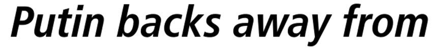Thumbnail Frutiger 68 Bold Condensed Italic Font - Download Frutiger