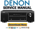 Thumbnail Denon AVR 1513 Service Manual & Repair Guide