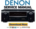 Thumbnail Denon AVR 1709 1609 1519 1509 Service Manual & Repair Guide