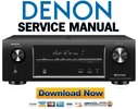 Thumbnail Denon AVR-X1000 X1010 E310 Service Manual & Repair Guide