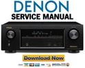 Thumbnail Denon AVR X1100W S700W Service Manual & Repair Guide