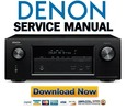 Thumbnail Denon AVR-X3100W + S720W Service Manual & Repair Guide