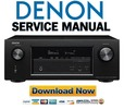 Denon AVR X3200W Service Manual & Repair Guide