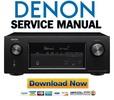 Thumbnail Denon AVR X3200W Service Manual & Repair Guide