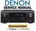 Thumbnail Denon AVR X4100W Service Manual & Repair Guide
