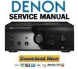 Thumbnail Denon PMA A100 Service Manual & Repair Guide