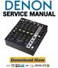 Thumbnail Denon DN X1100 Service Manual & Repair Guide